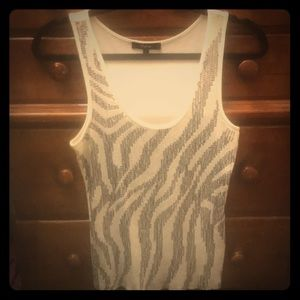 White Express Sequined Tank Top size Large